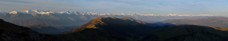 Alpen Panoramen Dolomiti Nel Tramonto Autunnale